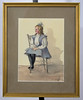 Watercolor of a child sitting on chair (Madison Historical Society (CT-USA)) Tags: madisonhistoricalsociety madisonhistory mhs madison connecticut conn ct country connecticutscenes usa newengland nikond600 nikon d600 bobgundersen bostonpostroad route1 allisbushnellhouse abhouse antiques old historical history museum interesting image inside indoor interior illustrated illustrator illustration photo picture people shot scene scenes portrait watercolor painting 2485mmf3545g