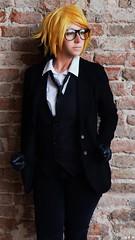 Ronald Knox (KurenaiSutcliff) Tags: ronald young sensual sexy glasses blonde blondeboy blackbutler cosplay butler black bb kuroshitsuji die todie death reaper shinigami knox ronaldknox