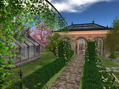 Rose Garden House (Avela Landscaping & Design) Tags: rose garden house landscape seconflife seconglife alvela landscaping trees roses tea flowers greenhouse green tropical platform skybox sky box birds bees fountain squirrel bunnys rabbits orchid willow oat bushes tranquil peaceful relaxing bright sunny spring summer lily white yellow cherrytree cherry linw patio hummingbird humming