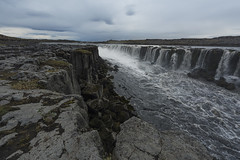 Selfoss, Iceland (andre adams) Tags: sky landscape water river travel clouds rocks waterfall iceland selfoss