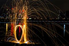 171202 3311 (steeljam) Tags: steeljam nikon d800 lightpainters wire woll spinning o2 isle dogs beach long exposure