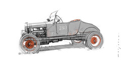 Hot Rod s (Stefan Marjoram) Tags: sketch drawing ipad pro procreate apple pencil car vintage racing plein air