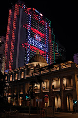 """""""final appeal"""" (hugo poon - one day in my life) Tags: x100f hongkong central chaterroad courtoffinalappealbuilding hsbcmainbuilding citynight lights colours goodnight architecture heritage office skyscrapers sign"""