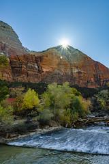 A short return visit to Zion and Bryce in Utah - 2013 (TAC.Photography) Tags: nationalparkzion utah zion utahpark mountains sunburst virginriver river tomclarkphotographycom tacphotography tomclark d5100