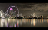 Singapore Nights - The Flyer (DarrenCowley) Tags: singapore letterbox cinematic flyer bigwheel cityscape reflections nightscape night water cloudformations canon5d mkiv darrencowley skyscrapers