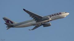 Qatar Cargo A330 (A7-AFZ) departing VAAH (faram.k) Tags: a330 a7afz airbus aircraft cargo freighter jet qatarairways ahmedabad gujarat india in