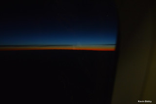 Sunrise from 35'000 ft