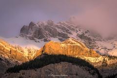 Cascade Mountain (Margarita Genkova) Tags: cascademountain banffnationalpark snow fog colours rockymountains nature canada golden peaks mountainscape light dramatic
