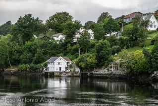 Kvernafjorden. Mar del Norte, Noruega