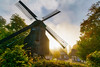 Early morning at the Farmhouse Museum (Jens Flachmann) Tags: autumn morning mill windmill bielefeld germany farmhouse museum farmhousemuseum trees e batis2818