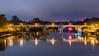 Richmond Footbridge and Lock (Colin_Evans) Tags: night richmond river thames bluehour refelction water bridge reflections architecture