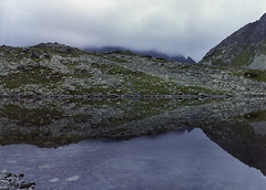 """""""...the world is just a mirror..."""" (zoltannagel) Tags: mamiya 645 super sekor a 55mm f28 leaf shutter wide angle lens kodak gpf gold professional 120 color negative film tetenal colortec c41 home developed epson v600 mountains high tatra rysy meeraugspitze slovakia slowakei east europe hiking medium format photography"""