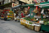 Shops in Gage Street (aemb01) Tags: shop gage street vegetable rue market marché hongkong asia trolley chariot