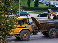 Truck on the Road (Linnea from Sweden) Tags: truck car tree grass city urban nikon d7000 afs 55200mm 456 g ed vr