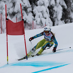 FIS Coaches Cup Sun Peaks Ladies GS - Dorothee Faucher (3rd place) PHOTO CREDIT: Chris Naas
