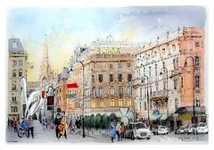 Vienne / Wien - Autriche / Österreich (guymoll) Tags: vienne vienna wien autriche austria österreich aquarelle watercolour watercolor aguarela stadt ville city cathédrale stefansdom