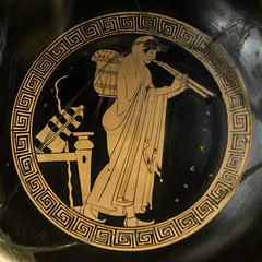 "Make Music – I: Aulos Player (Egisto Sani) Tags: louvre parigi vasi ""red figure"" ""figure rosse"" cup coppa kylix ""brygos painter"" ""pittore di brygos"" ""late archaic"" archaic period"" ""greek art"" ceramic"" pottery"" ""ceramica greca"" vases"" ""caramica attica"" attic ""vasi greci"" etruria vulci paris ""musée du louvre"" ""g 313"" g313"
