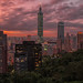 Taipei 101 at dusk (17:24)