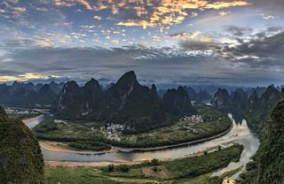 *Li River Bend from Xianggong Hill*
