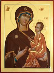 Тихвинская икона Божией Матери. Список