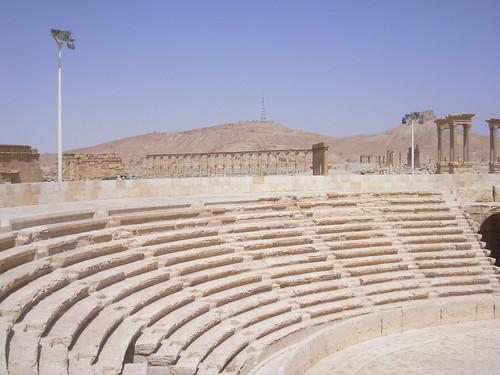 Palmyra (Tadmor), Theater mit palastähnlichem Bühnenhaus
