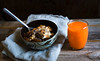 another day another breakfast (auntneecey) Tags: food breakfast oatmeal anotherdayanotherbreakfast carrotorangejuice 365the2017edition 3652017 day325365 21nov17