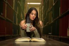 Studiyng (Victor Carrera) Tags: library studiyng reading coffee drink book books nikon 50mm