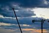 work in the clouds (kamsli) Tags: clouds work wroclaw wrocław breslau polska poland workers silhouette