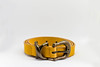 Yellow Leather Belt (wuestenigel) Tags: clothing personal belts long abstract lock collection background female shiny woman strap isolated business white single pattern closeup buckle new metal leather black straight color bright nobody belt accessory object brown buckles yellow fashion design noperson keineperson wear tragen cutout ausgeschnitten leder access zugriff stilllife stillleben isoliert security sicherheit steel stehlen mode geschäft safety one ein gold conceptual konzeptionell jewelryband schmuckband connection verbindung glazed glasiert shining leuchtenden retro