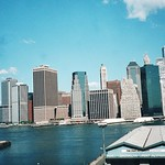 New York City - Lower Manhattan - World Trade Centre Before 9/11 - 2001 - View From Brooklyn thumbnail