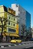 Yellow  & Yellow (Yorkey&Rin) Tags: 2017 autumn bluesky em5markii japan november olympus olympusm14150mmf4056ii rin shop tokyo uc260043 vwbeatle yellow yellowcar ビートルカブリオレ ラーメン屋 黄色 河童 青空 東京都
