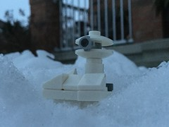 Hoth Defense Turret (splinky9000) Tags: kingston ontario snow toys outdoors lego star wars hoth the empire strikes back defense turret