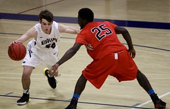 Out of my way! (stephencharlesjames) Tags: basketball college sports indoor sport action ball ncaa middlebury vermont plattsburgh ny