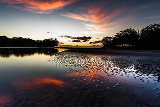 Tamarin bay at dusk
