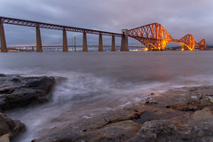 Moody evening (ola_er) Tags: forth bridge steel construction engineering moody evening landscape long exposure scotland