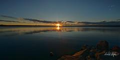 Sunset Over Cherry Creek Reservoir (dcstep) Tags: dsc1832dxo water lake reservoir cherrycreekreservoir sunstar flare sunset reflection sky clouds red blue cherrycreekstatepark colorado usa sonya9 allrightsreserved copyright2017davidcstephens dxophotolab aurora metaboneseftoetadaptermkv canonef14mmf28lii