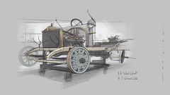 Silver_Ghost s (Stefan Marjoram) Tags: sketch drawing ipad pro procreate apple pencil car vintage racing plein air