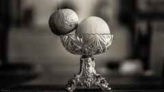 La Coupe de Fruits (YᗩSᗰIᘉᗴ HᗴᘉS +10 000 000 thx❀) Tags: bn bw nb monochrome noiretblanc blackandwhite objet object food 7dwf