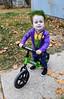 1186 (StriderBikes) Tags: 12 2017 boy costume grass green halloween joker october photocontestentry sidewalk smile sport kalispell montana unitedstates us