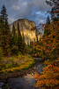 Yosemite's El Capitan in the Fall (Jeffrey Sullivan) Tags: el capitan light yosemite nationalpark dogwood tree fall colors photography workshop landscape travel california usa nature canon eos 6d photo copyright november 2017 jeff sullivan unitedstates sierranevada national park united states evening weather hdr photomatix cokin gnd filter