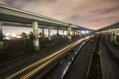 capitol corridor (eb78) Tags: ca california oakland eastbay npy nightphotography longexposure railroad train lighttrail