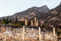 Delphi (CaptSpaulding) Tags: greece delphi old ancient historic building buildings statue stairs rain sky canon color contrast clouds closeup athens bank treasury ruins mountain wall tree frass grass