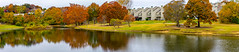 Minshall Lake Panorama (Pejasar) Tags: lake autumn fall season reflection pano panoramic minshalllake tulsa oklahoma