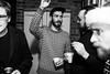 Cat's Christmas party (Gary Kinsman) Tags: bw blackwhite highiso london n16 stamfordhill stamfordhillestate party houseparty candid unposed evening night fujix100t fujifilmx100t flash 2017 christmas christmasparty group gesticulate people person