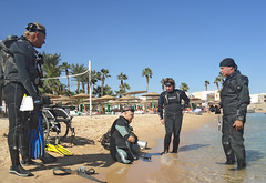 quadruple amputee man takes diving course 02 (KnyazevDA) Tags: disability disabled diver diving deptherapy undersea padi underwater owd redsea buddy handicapped aowd egypt sea wheelchair travel amputee paraplegia paraplegic