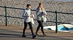 Chips - The Esplanade, Sidmouth, Devon - 2017 (Dis da fi we (was Hickatee)) Tags: sidmouth devon chips girl girls sea beach