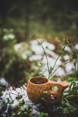 Autumncoffee-6 (junestarrr) Tags: autumn fall firstsnow finland oulu kalimenoja outdoors woods nature coffee kuksa bonfire trees forest intothewild north nordic visitfinland