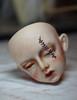 Tutorial - Glorydoll Goth Lucy' Face-up - Step 3 (Mamzelle Follow) Tags: glorydollgothlucy tutorial tutoriel naturalfaceup stepbystep bjdfaceup doll