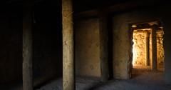 light of time (Michael Kenan) Tags: arizona az usa road trip besh ba gowah indian ruins doorway lodge pole light shadows pueblo globe rio salado