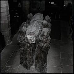 The Journey - Dr Fenwick Lawson - St Marys Church, Lindisfarne. (M a r k.............) Tags: freehand noflash longexposure lindisfarne thejourney cuthbert stcuthbert saint holyisland monk sculpture
